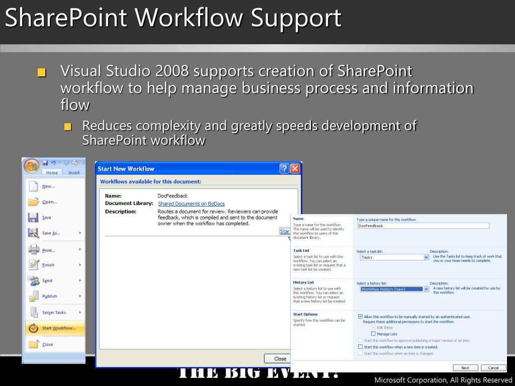 SharePoint Workflow Support