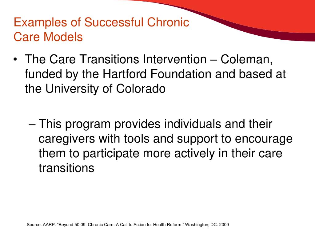 Examples of Successful Chronic Care Models