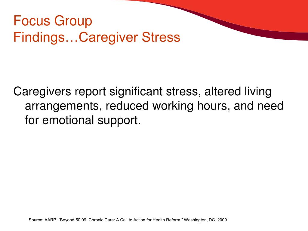 Focus Group Findings…Caregiver Stress