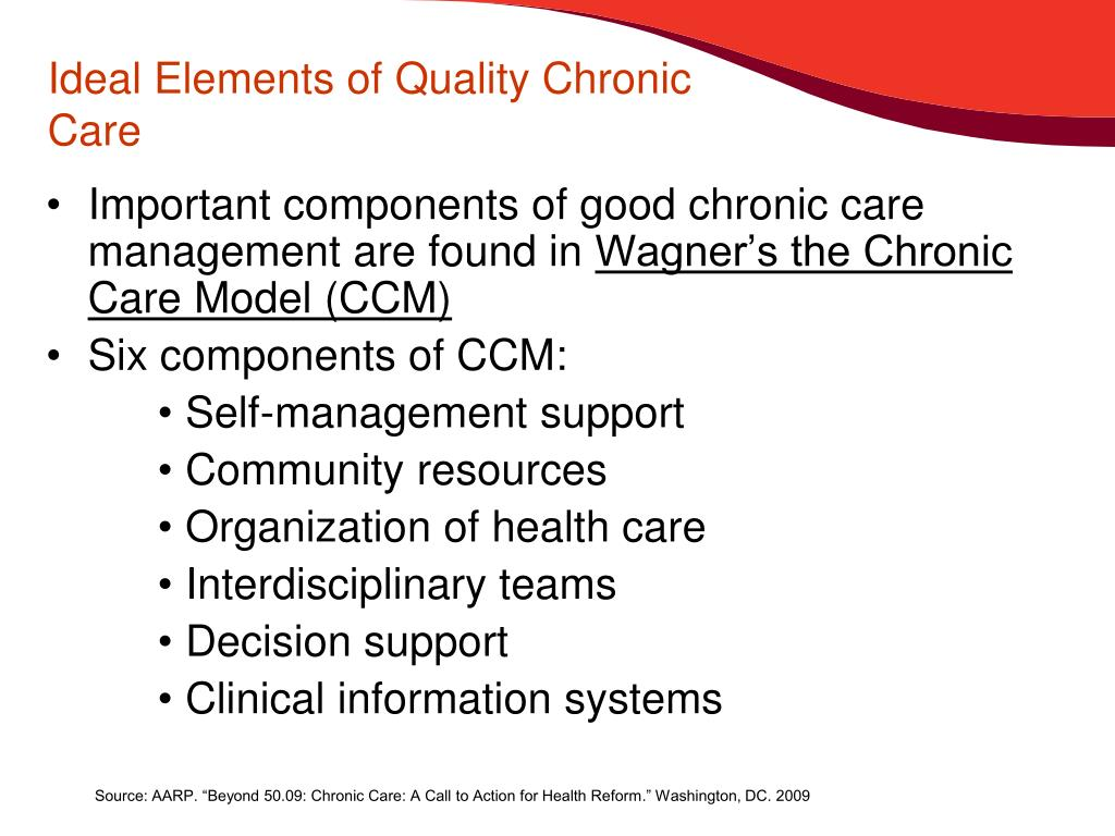 Ideal Elements of Quality Chronic Care