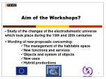 aim of the workshops