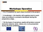 workshops operation