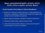 quasi governmental public private entity state office w public private board