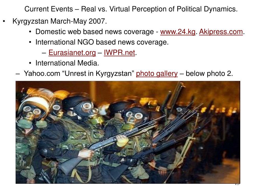 Current Events – Real vs. Virtual Perception of Political Dynamics.