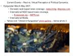 current events real vs virtual perception of political dynamics