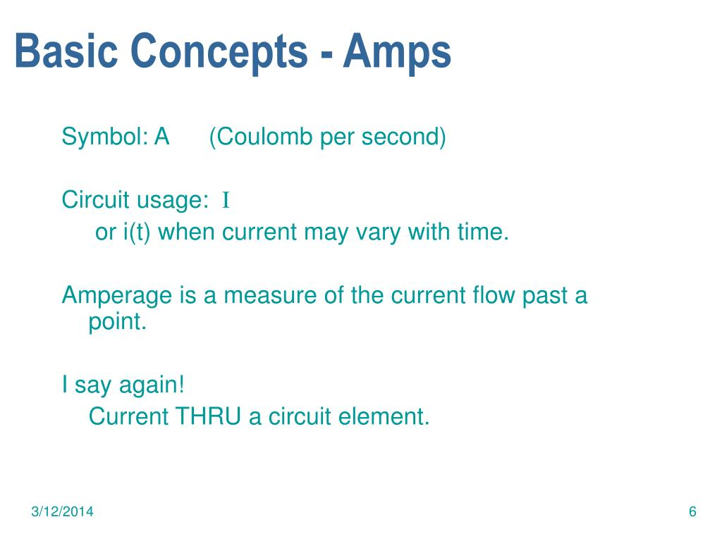 Basic Concepts - Amps