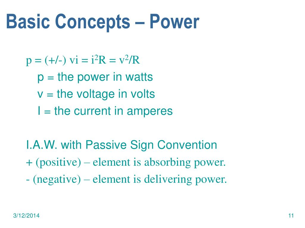 Basic Concepts – Power