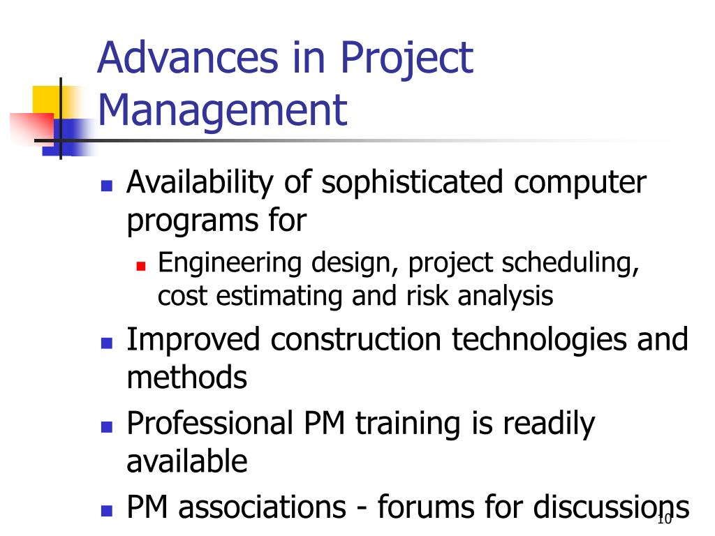 Advances in Project Management