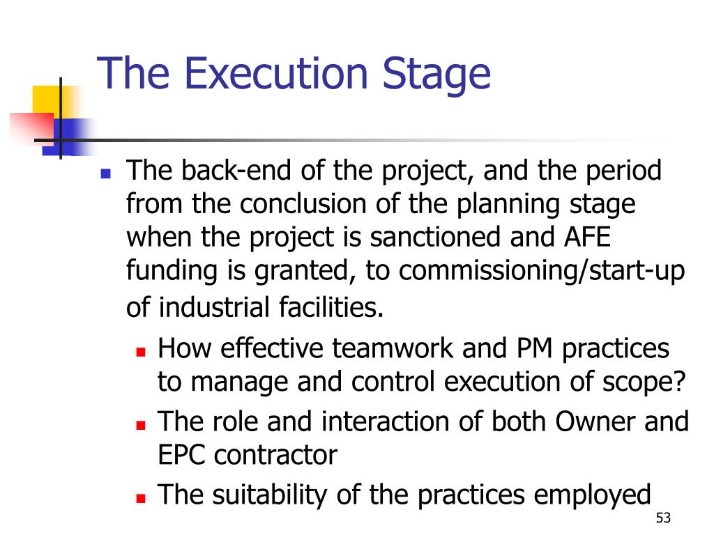 The Execution Stage