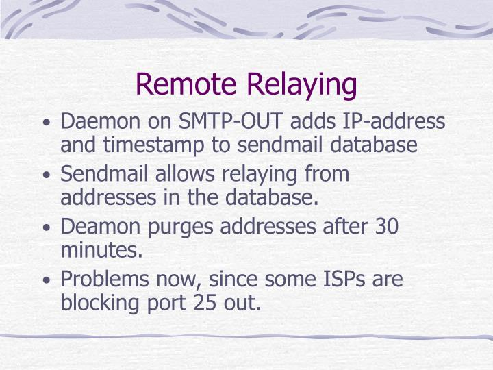 Remote Relaying
