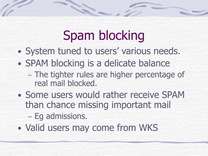 Spam blocking