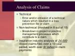 analysis of claims