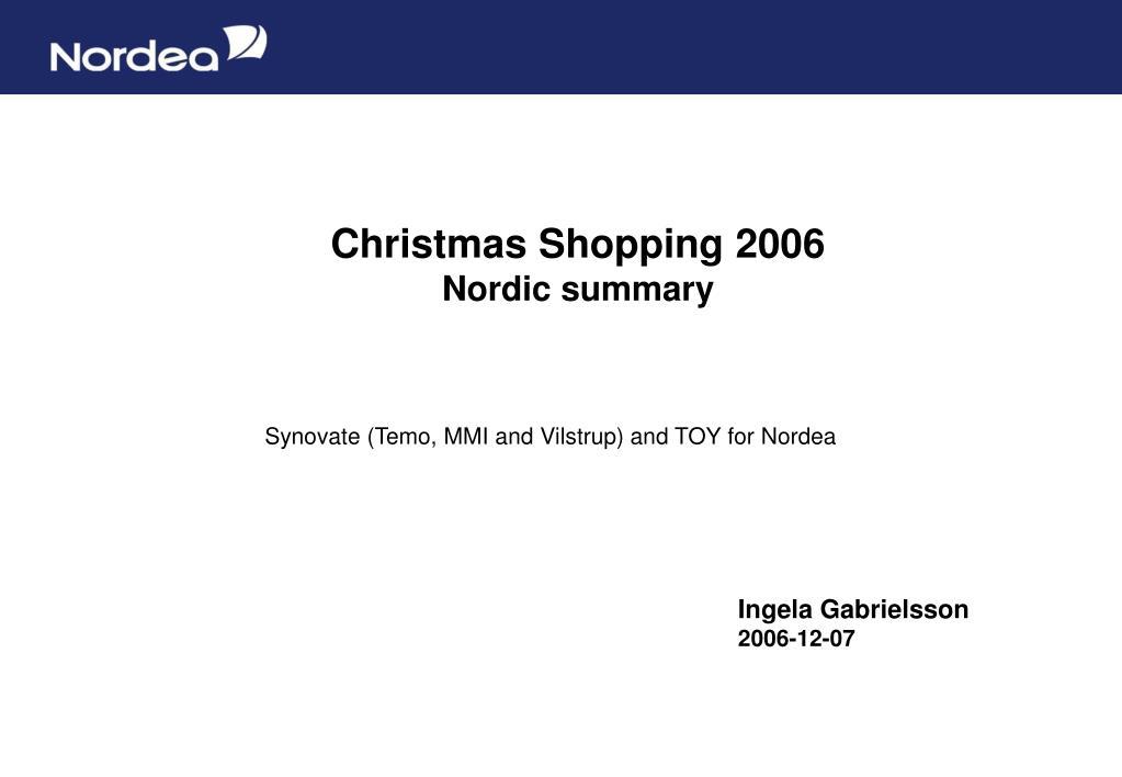 christmas shopping 2006 nordic summary l.