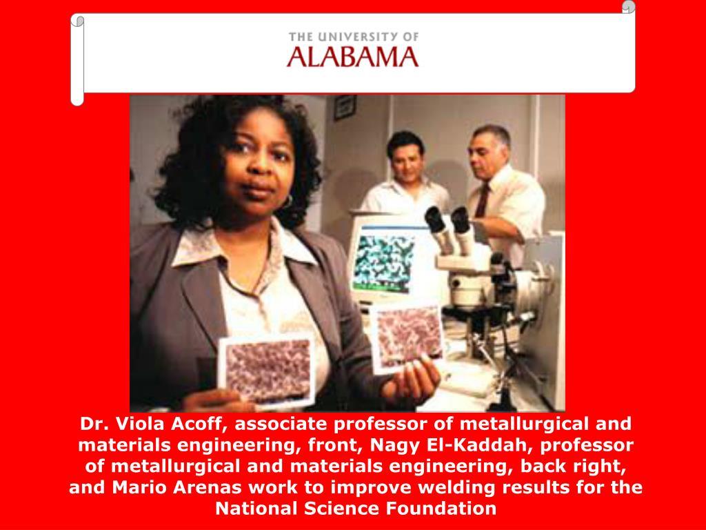 Dr. Viola Acoff,