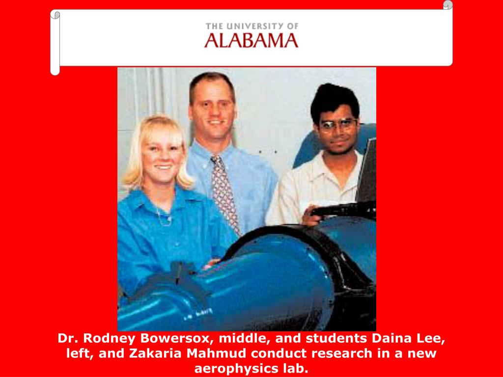 Dr. Rodney Bowersox, middle, and students Daina Lee, left, and Zakaria Mahmud conduct research in a new aerophysics lab.