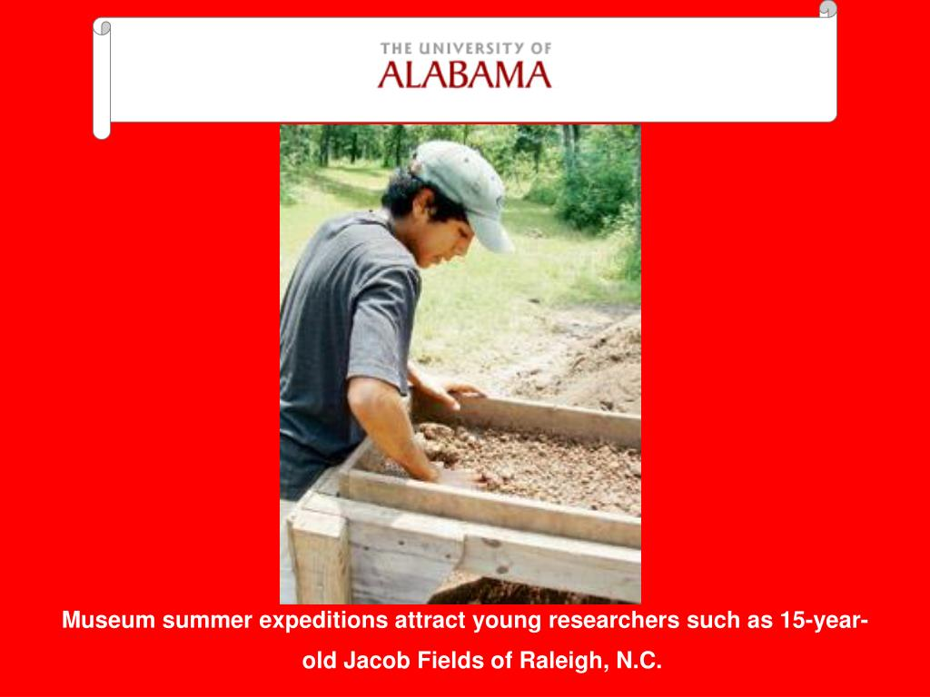 Museum summer expeditions attract young researchers such as 15-year-old Jacob Fields of Raleigh, N.C.