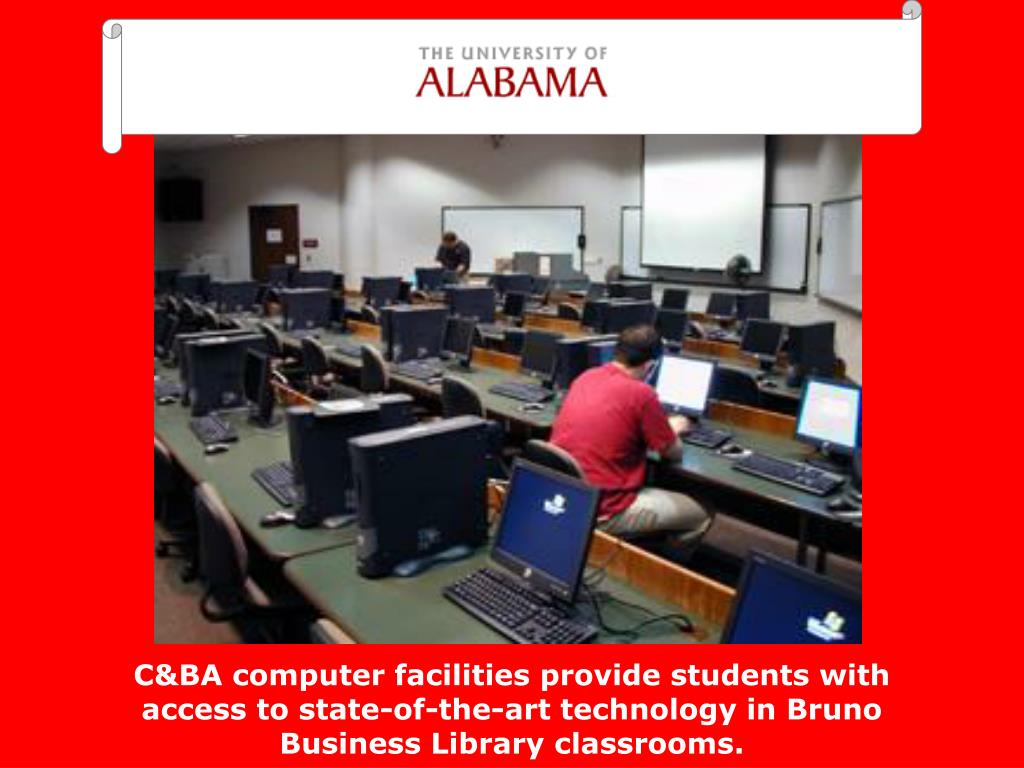 C&BA computer facilities provide students with access to state-of-the-art technology in Bruno Business Library classrooms.