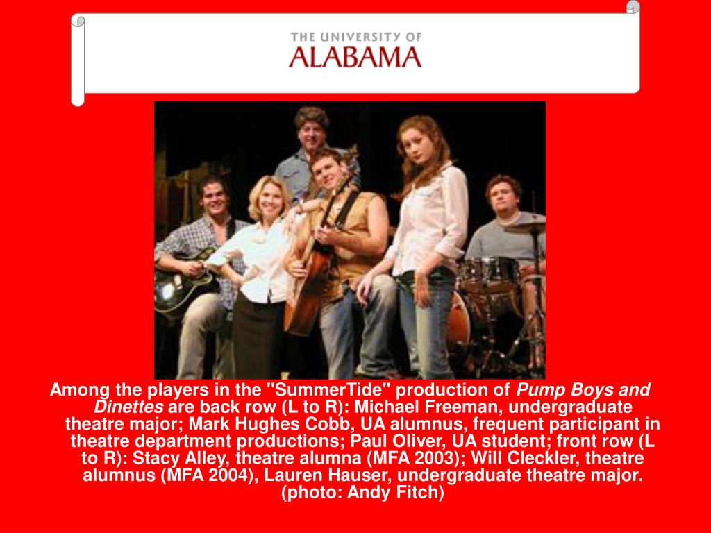 """Among the players in the """"SummerTide"""" production of"""