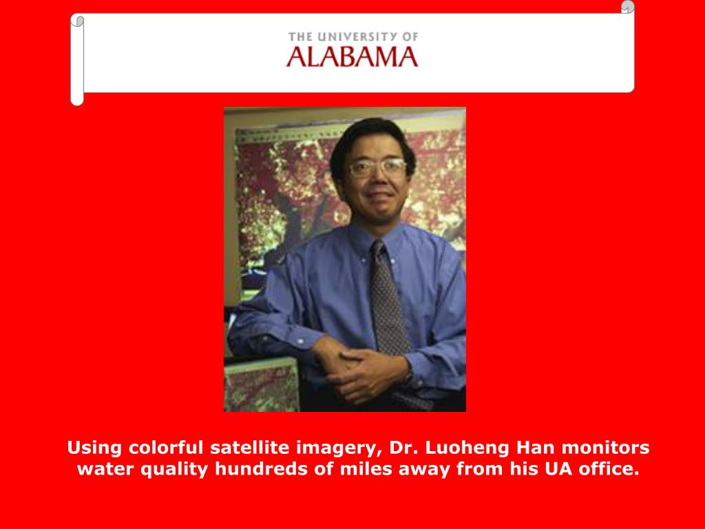 Using colorful satellite imagery, Dr. Luoheng Han monitors water quality hundreds of miles away from his UA office.