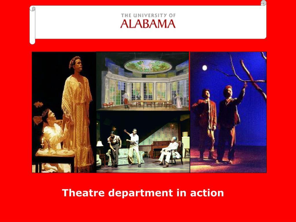 Theatre department in action