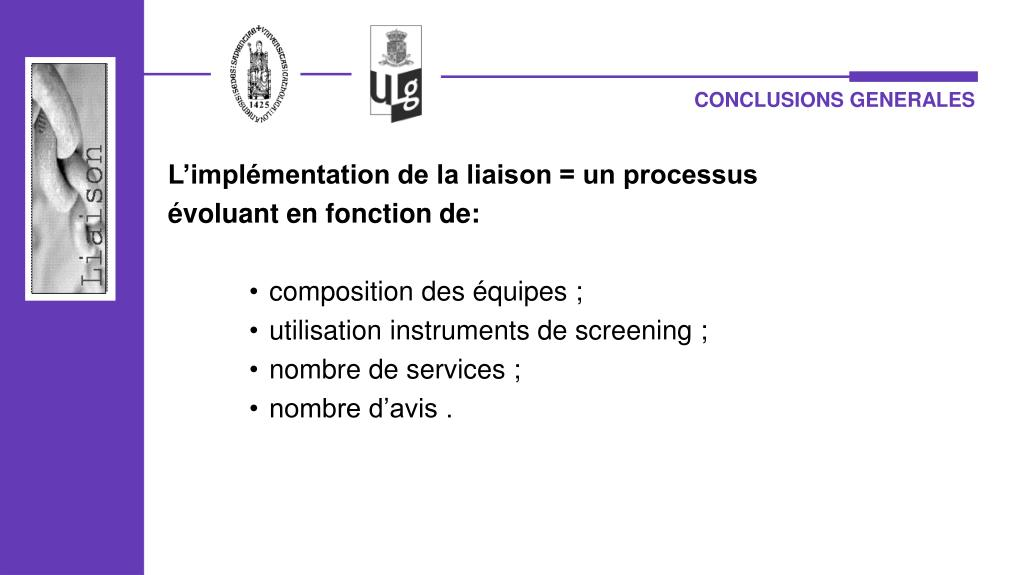 CONCLUSIONS GENERALES