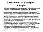 conventions vs conceptual principles