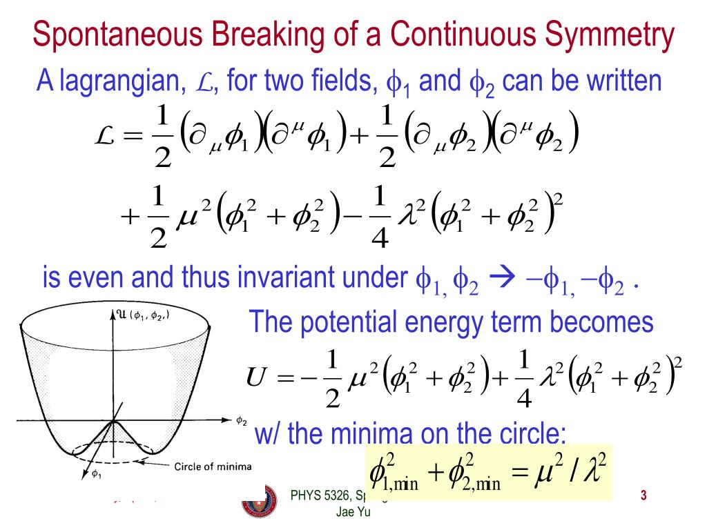Spontaneous Breaking of a Continuous Symmetry