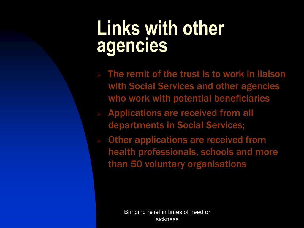 Links with other agencies