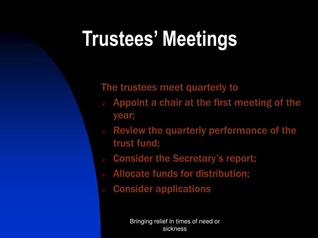 Trustees' Meetings