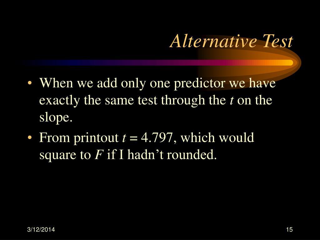 Alternative Test
