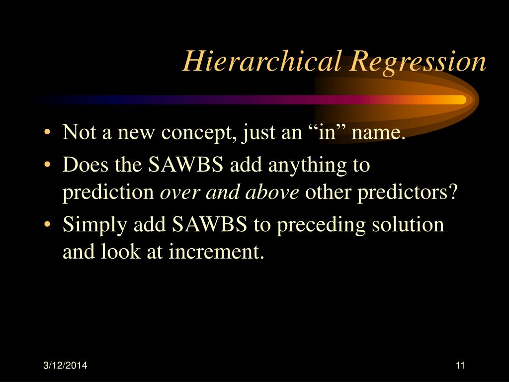 Hierarchical Regression