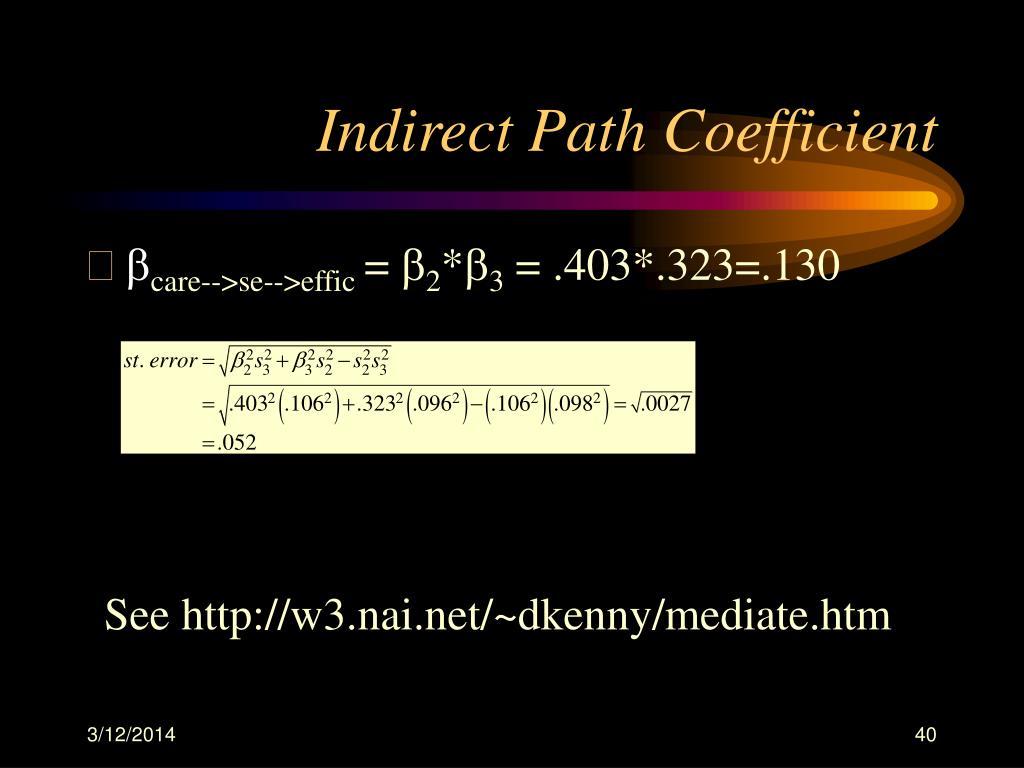 Indirect Path Coefficient