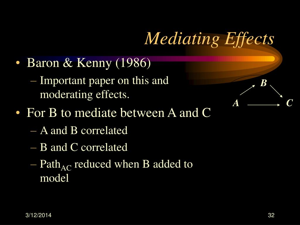 Mediating Effects