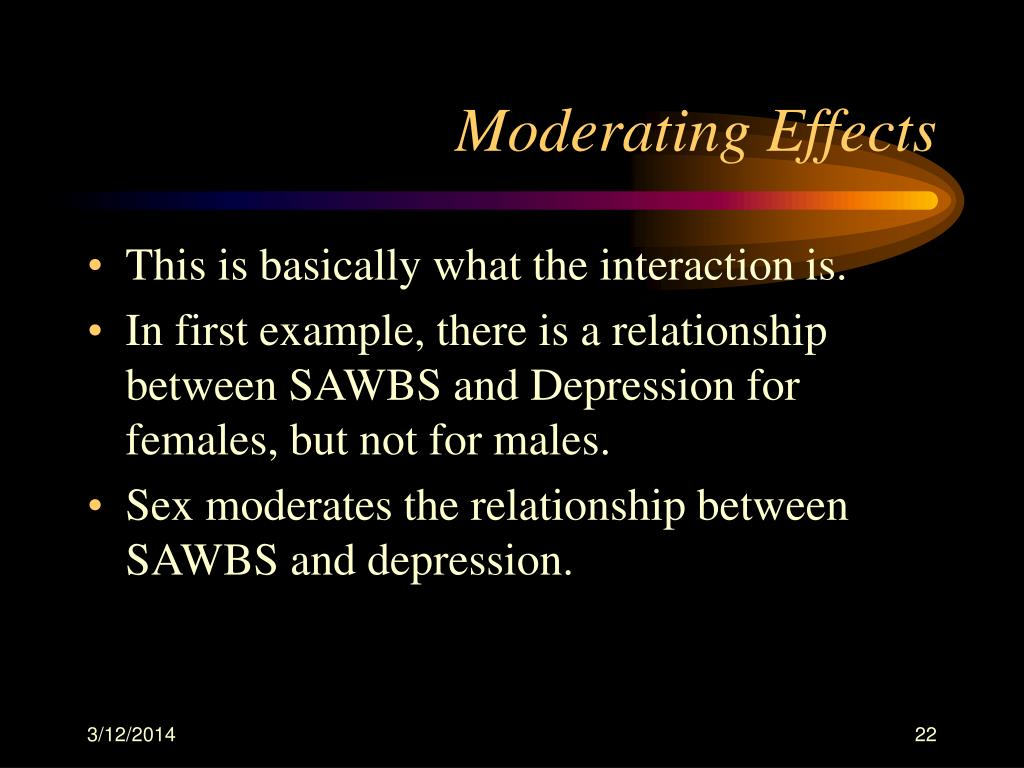 Moderating Effects