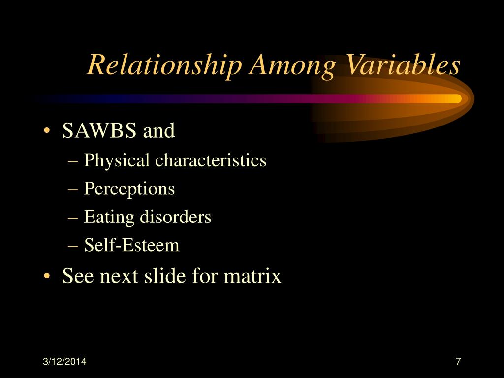 Relationship Among Variables