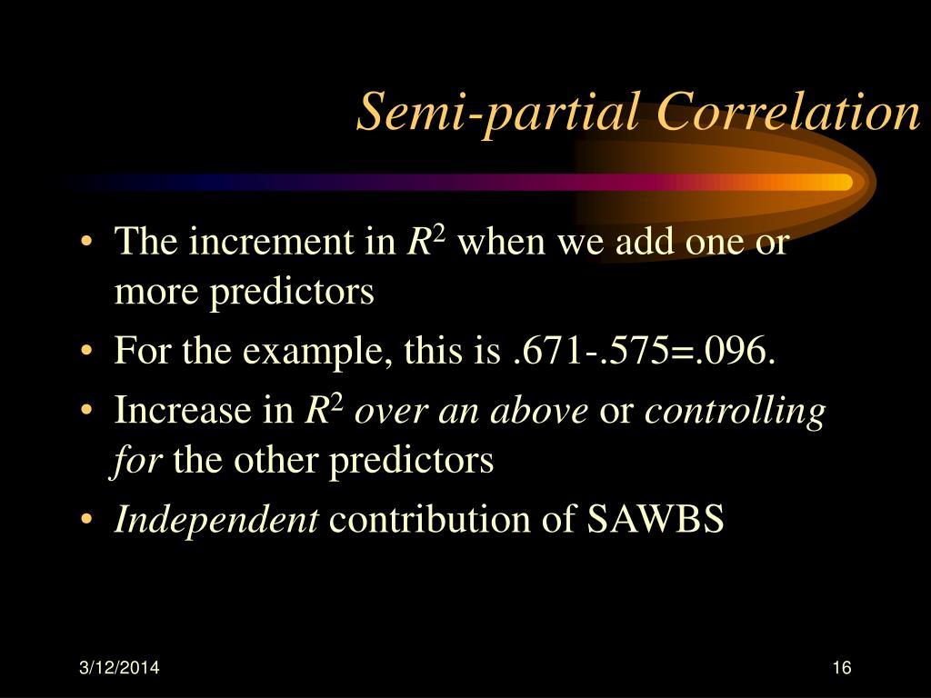 Semi-partial Correlation