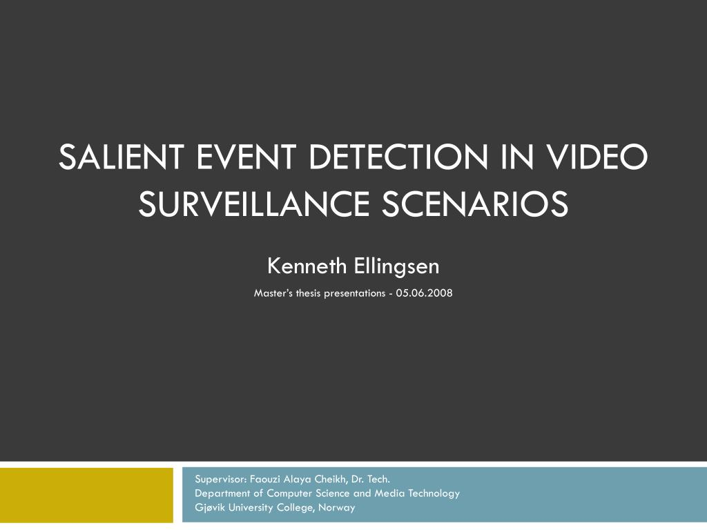 Salient event detection in video