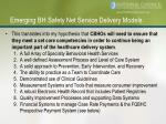 emerging bh safety net service delivery models