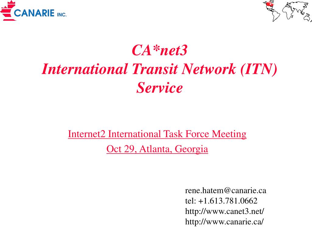 ca net3 international transit network itn service l.