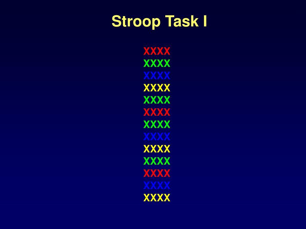 Stroop Task I