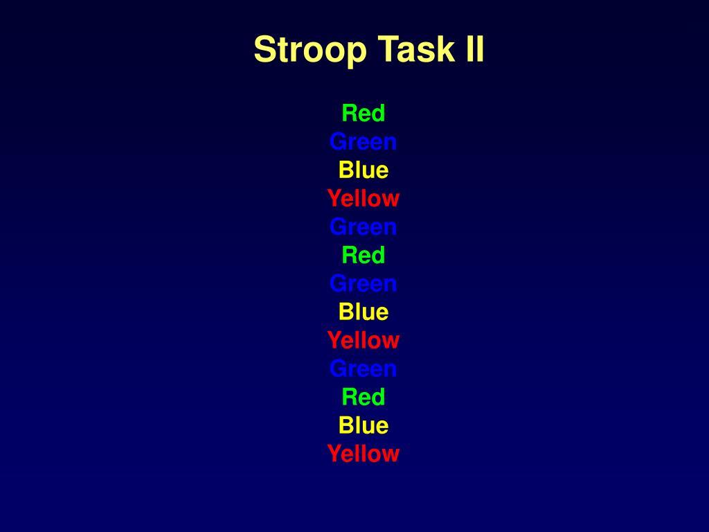 Stroop Task II