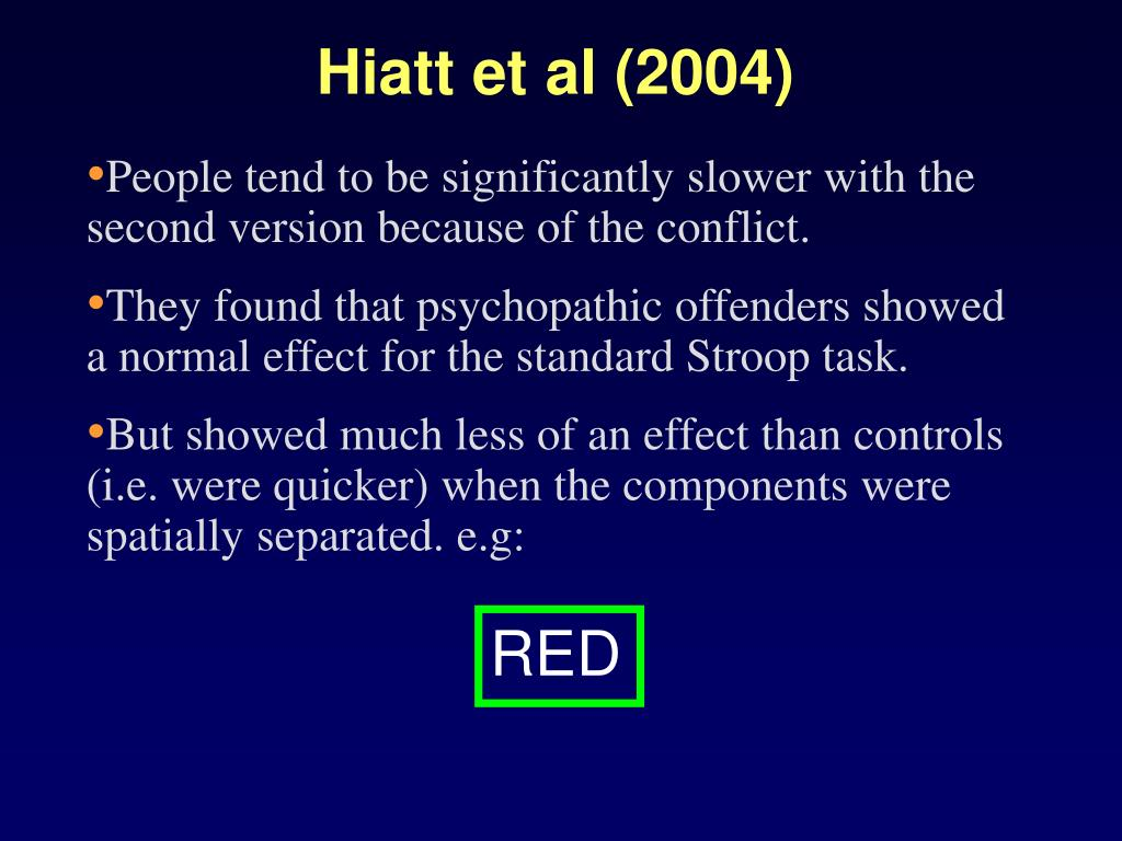 Hiatt et al (2004)