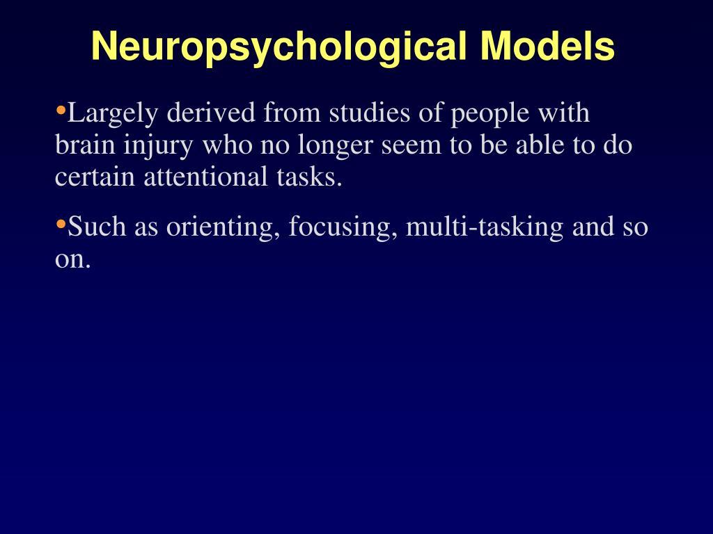 Neuropsychological Models