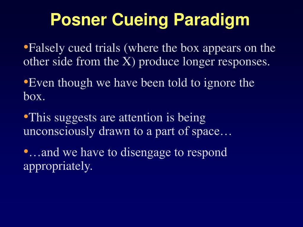 Posner Cueing Paradigm