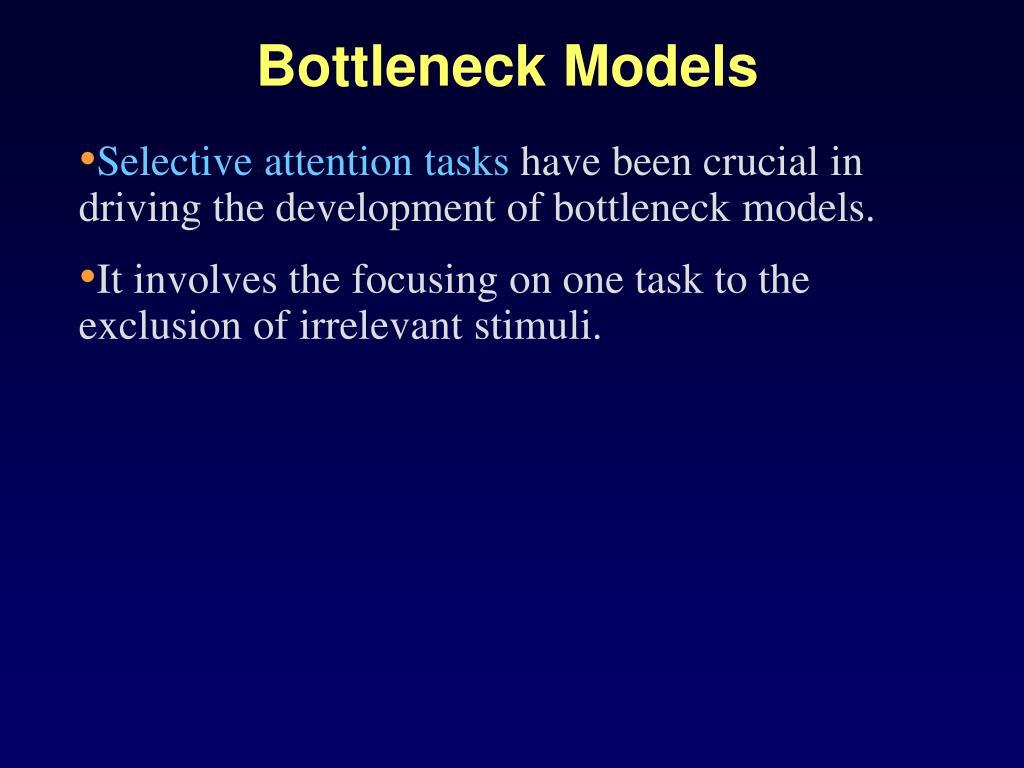 Bottleneck Models