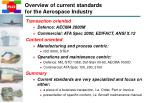overview of current standards for the aerospace industry