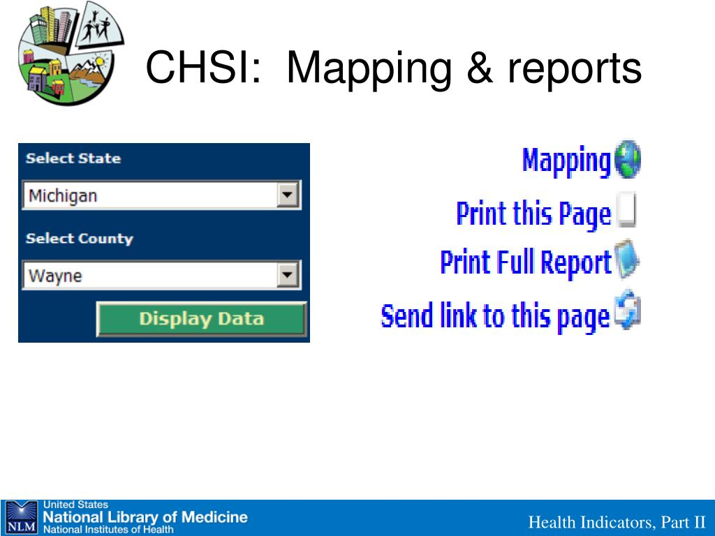 CHSI:  Mapping & reports