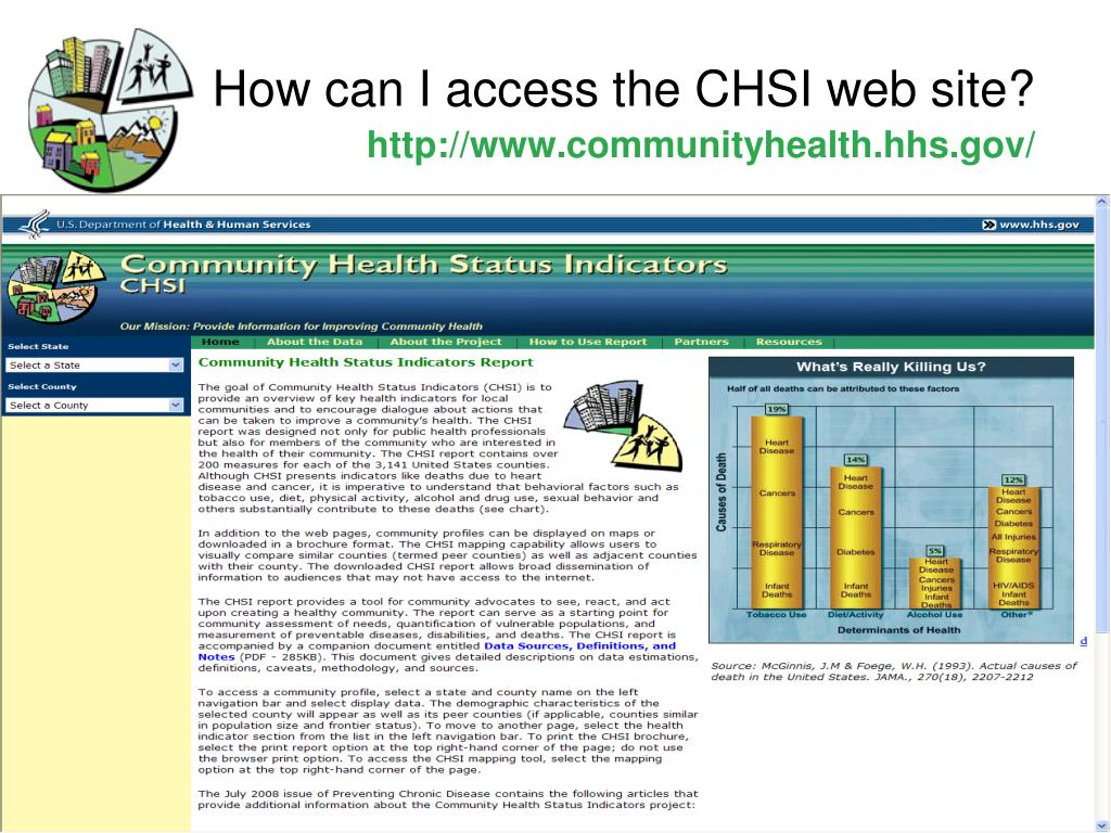 How can I access the CHSI web site?