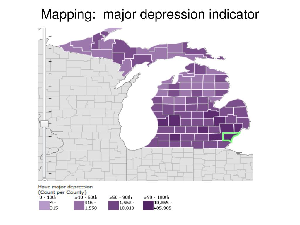 Mapping:  major depression indicator