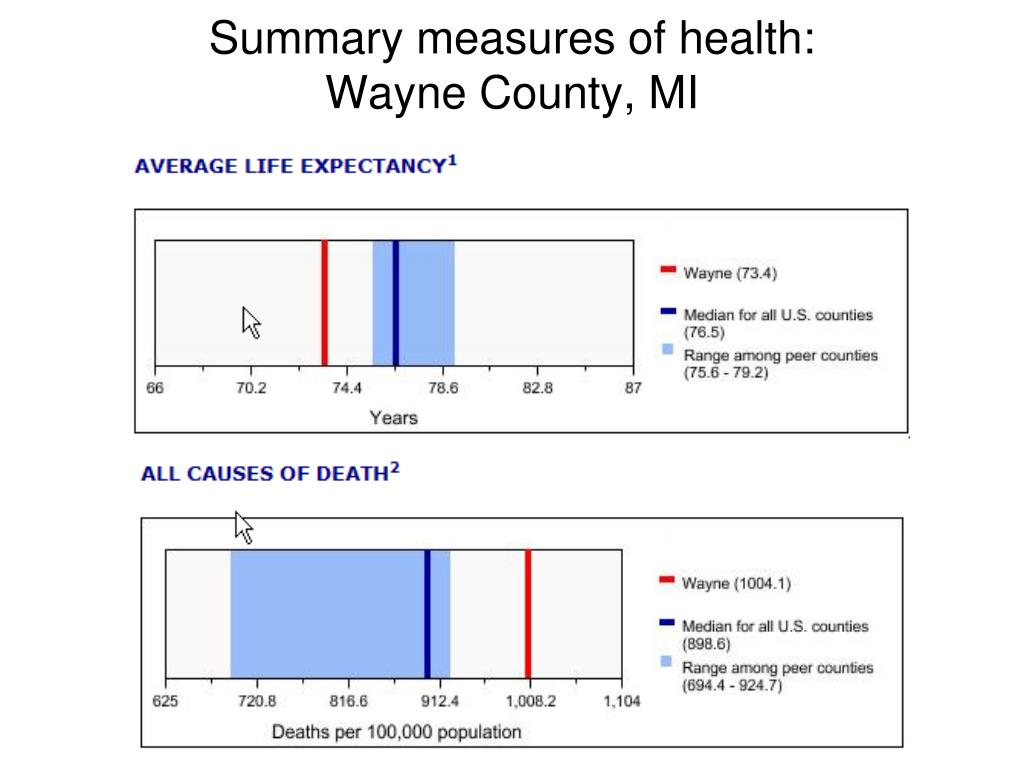 Summary measures of health: